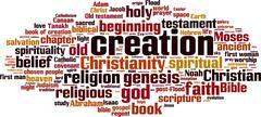 Stock Illustration of Creation word cloud