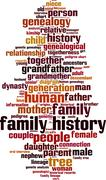 Stock Illustration of Family history word cloud