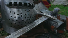 Medieval Sword close up - camera slide Stock Footage