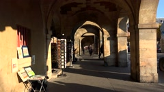 Stock Video Footage of Arcade on the Place des Vosges in Paris. France. 4K.