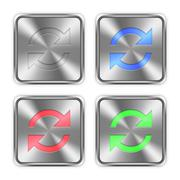 Stock Illustration of Color refresh steel buttons
