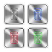 Stock Illustration of Color trash steel buttons
