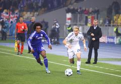 UEFA Champions League game FC Dynamo Kyiv vs Chelsea - stock photo