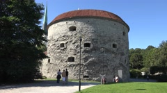 The Fat Margaret Tower (in 4k), Tallinn, Estonia. Stock Footage