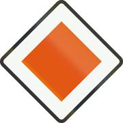 Old version of Dutch road sign B1 - Priority road(1941-1990) Stock Illustration