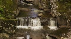 Bracklinn falls near Callander, Scotland, HD footage - stock footage