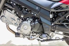 Detail of Suzuki V storm 650Xt ABS - stock photo
