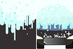 Vector car wash banner for advert.  Auto cleaning and polishing service Piirros