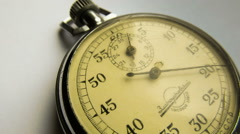 Vintage dial stopwatch Stock Footage