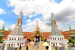 Emerald Buddha or Wat Phra Kaew in Bangkok, Thailand - stock photo