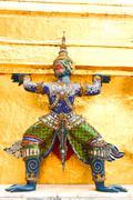 Emerald Buddha or Wat Phra Kaew in Bangkok, Thailand Stock Photos