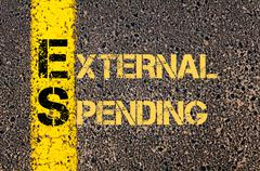 Business Acronym ES as EXTERNAL SPENDING - stock illustration