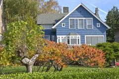 Family home in Queen Ann Seattle WA. - stock photo