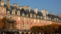 Place des Vosges in Paris. France. 4K. Stock Footage