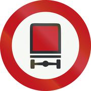 A Dutch prohibition sign - No vehicles carrying dangerous goods Stock Illustration