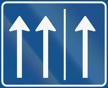 Dutch regulatory road sign - Rush-hour lane open - stock illustration