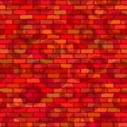 Stock Illustration of Brick wall, seamless
