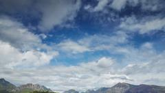 Dramatic sky over the mountains, floating clouds, time lapse 4k video Stock Footage