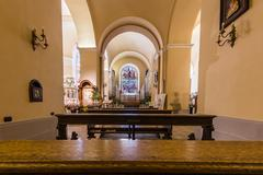 Church interior at Assisi, Italy - stock photo