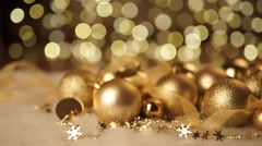 Golden Christmas background Stock Footage