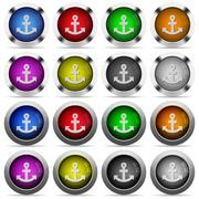 Stock Illustration of Anchor button set