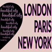 London Paris NY T-shirt 2 - stock illustration