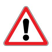 Attention sign on white background Piirros