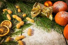 christmas mood on a table - stock photo