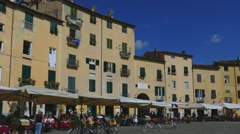 Piazza Anfiteatro, Lucca, Tuscany, Italy, Europe Stock Footage