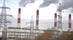 Thermal nuclear station Stock Footage