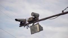 Radar speed detector Stock Footage