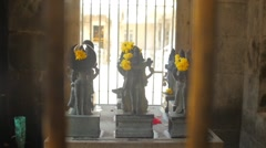 Statues of deities in colors Stock Footage