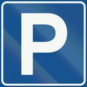 Stock Illustration of Netherlands road sign E4 - Parking area