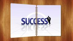 Success Text in Book's Page, Loop, 4k Stock Footage