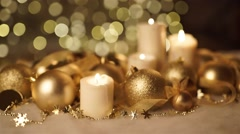 Golden Christmas background - stock footage