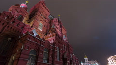The State Historical Museum of Russia timelapse hyperlapse. Located between Red Stock Footage