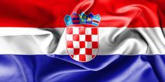 Croatia Flag Stock Illustration