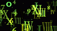 4k Alphabet matrix computer number background,finance password information data Stock Footage