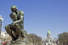 The Thinker by Rodin - stock photo