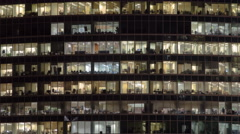 Windows in Skyscrapers International Business Center City at night timelapse Stock Footage