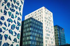 Modern business district in Oslo, Norway - stock photo