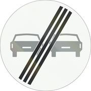A Dutch prohibition sign - End of no overtaking - stock illustration