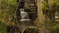 Bracklinn falls near Callander, Scotland, HD footage Stock Footage