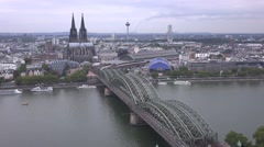 City of cologne time lapse at night Stock Footage