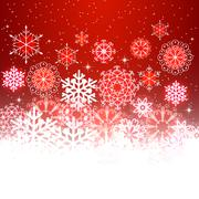 Red Christmas background with space for text. - stock illustration
