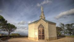 HDR time lapse of a chapel Stock Footage