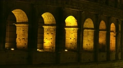 ULTRA HD 4K real time shot,Ruins of Colosseum night in Rome Stock Footage