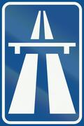 Netherlands road sign G1 - Beginning of Motorway - stock illustration