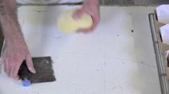 Stock Video Footage of braiding brioche dough portions