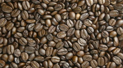 Coffee beans rotate - stock footage